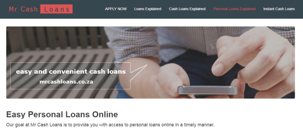 Mr Cash Loans Cape Town — Personal Loans SA